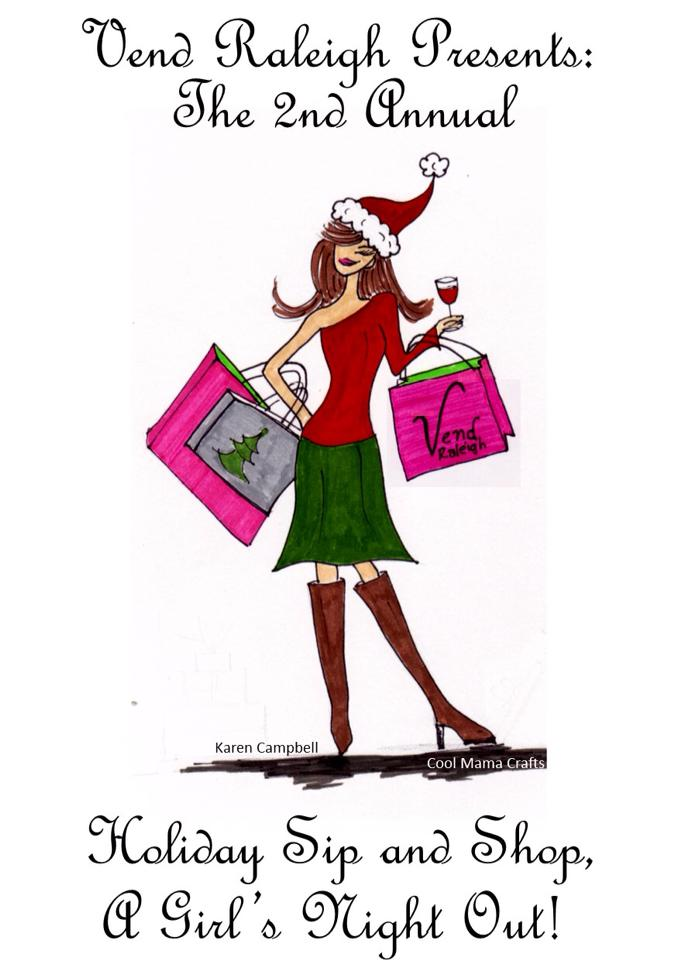 Vend Raleigh Holiday Sip and Shop, Christmas Shopping Event