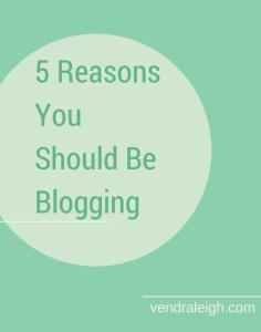 Reasons to blog