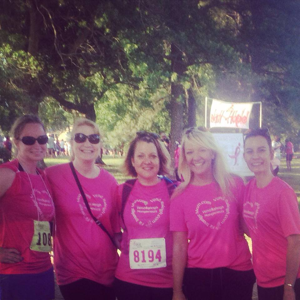 Members of the North Carolina Central University Alumni Association, Raleigh/Wake Chapter and Friends supported the Susan G. Komen Walk for the Cure at Frontier Park – Research Triangle Park, NC on May 5,