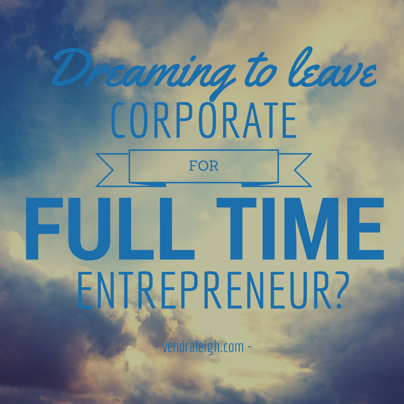 Corporate to Self Employment Coaching Sessions Raleigh