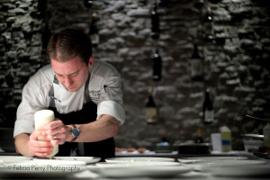 Chef cooking, photo by Felicia Perry Photography for Vend Raleigh