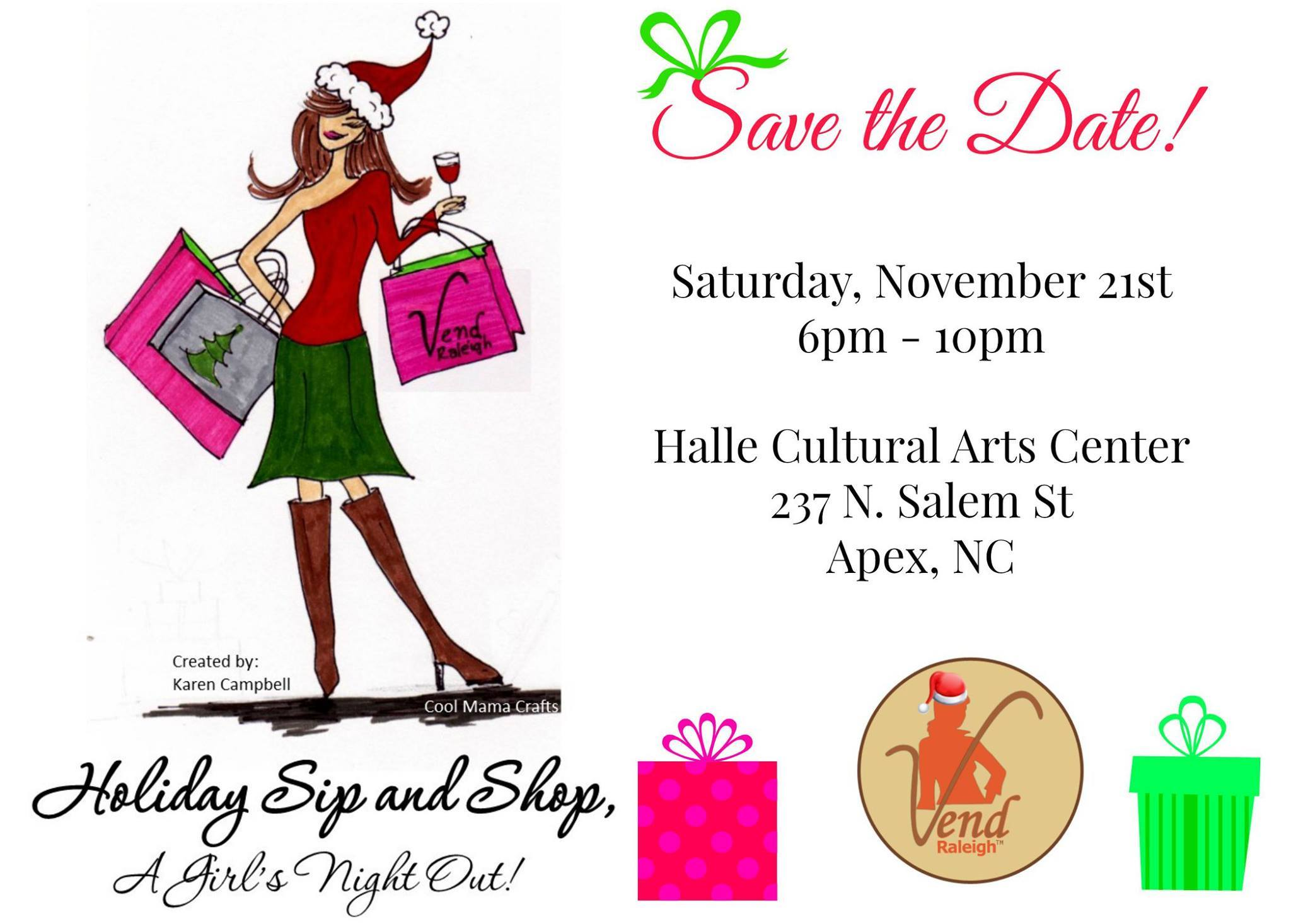 Vend Raleigh Holiday Sip and Shop -  Raleigh Christmas Show
