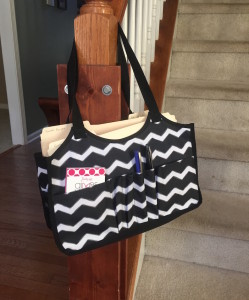 Organizing paperwork with a Keep It Tote.