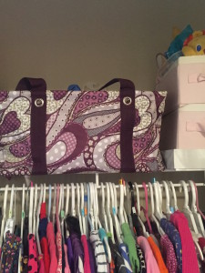 Large Utility Tote: Perfect for storing out-grown clothes in a closet.